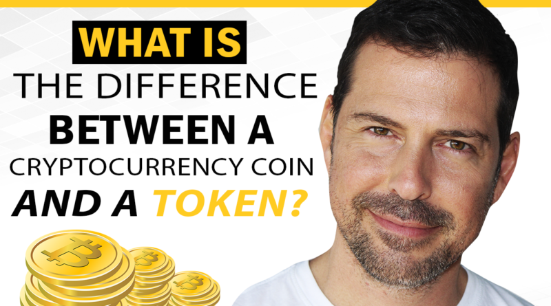 What is the difference between a cryptocurrency coin and a token?