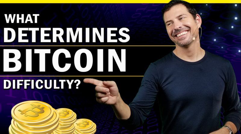 What determines Bitcoin difficulty level?