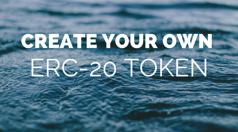 Create an ERC-20 Token
